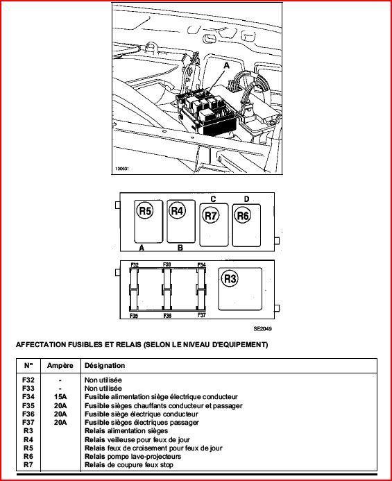 fusible renault espace 4