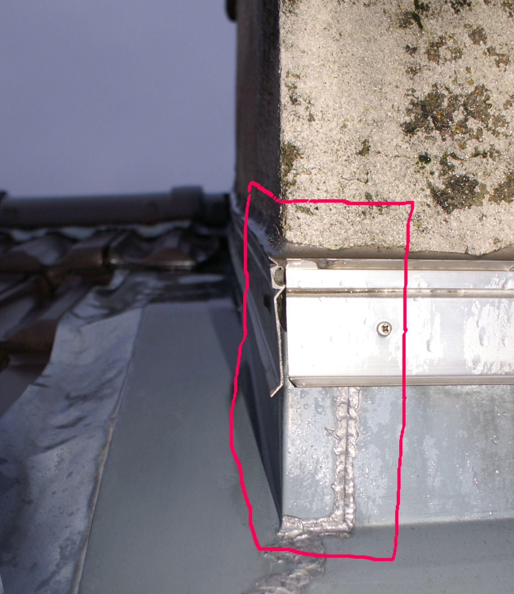 bande solin en zinc avec platine plomb si c est toit plat sur. Black Bedroom Furniture Sets. Home Design Ideas