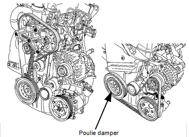 Clio 3 Laguna 2 Modus Megane 2 Scenic 2 3 T Poulie d Arbre a Came Dephaser