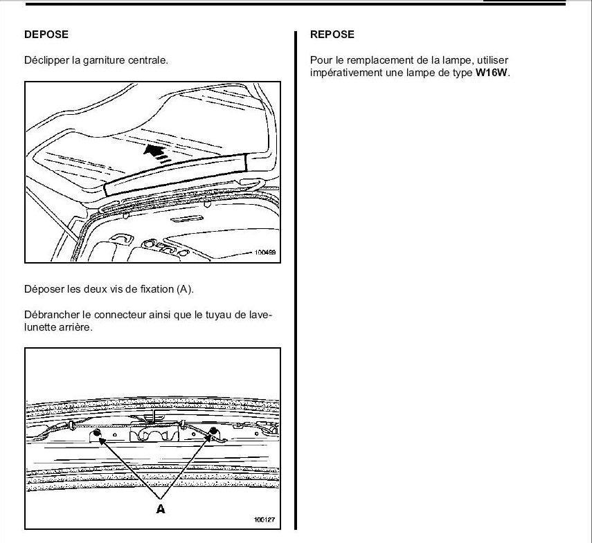 demontage 3eme feu stop kangoo 2 blog sur les voitures. Black Bedroom Furniture Sets. Home Design Ideas