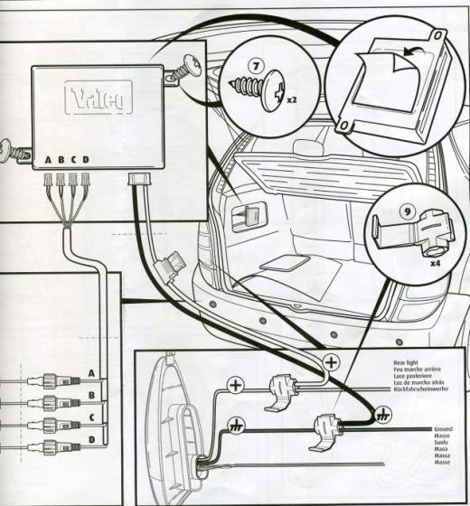 laguna ii probl me installation radar de recul r gl p0 plan te renault. Black Bedroom Furniture Sets. Home Design Ideas