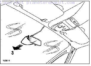 espace iv remplacer le retro central par un lectrochrome p36 plan te renault. Black Bedroom Furniture Sets. Home Design Ideas